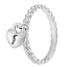 Chamilia Sterling Silver Heart Lock Ring XS - Product number 4032934