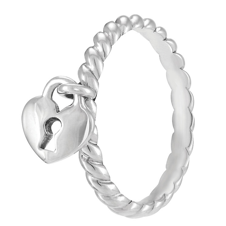 Chamilia Sterling Silver Heart Lock Ring Medium - Product number 4032977