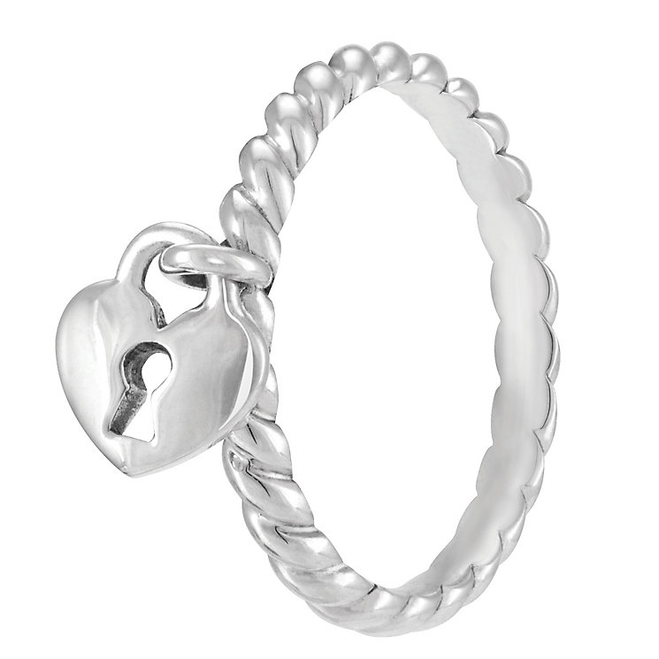 Chamilia Sterling Silver Heart Lock Ring Large - Product number 4033027