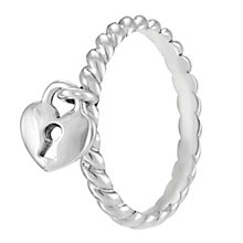 Chamilia Sterling Silver Heart Lock Ring XL - Product number 4033108