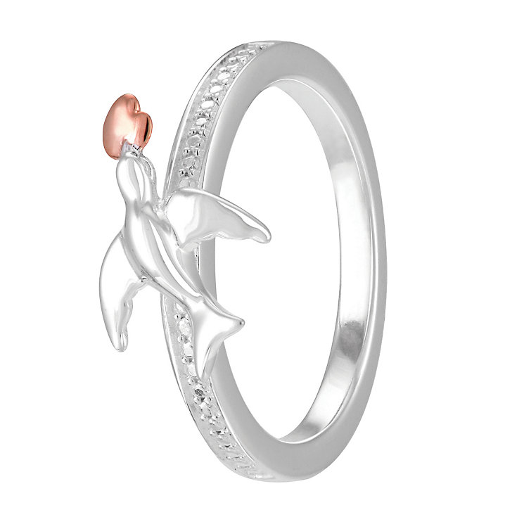 Chamilia Rose Gold Electroplated Special Delivery Ring XS - Product number 4033116