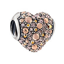 Chamilia Pave Gems Heart Sterling Silver Bead - Product number 4035313