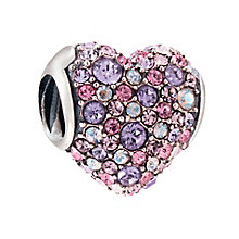 Chamilia Pave Gems Heart Sterling Silver Bead - Product number 4035615