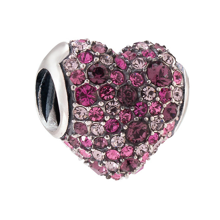 Chamilia Pave Gems Heart Sterling Silver Bead - Product number 4035720
