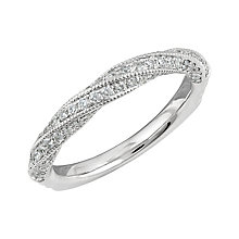 Angel Sanchez 18ct white gold 0.55ct HJ-I1 diamond ring - Product number 4036018