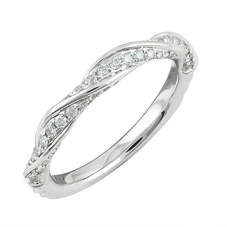 Angel Sanchez 18ct white gold 0.33ct HJ-I1 diamond ring - Product number 4036166