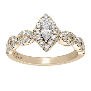 Neil Lane 14ct  gold 0.87ct diamond marquise ring - Product number 4043405