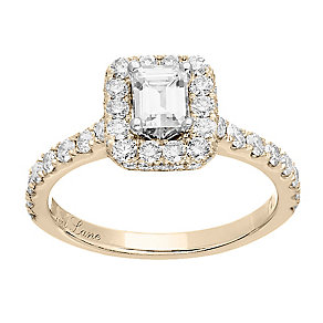 Neil Lane 14ct gold 1.39ct diamond halo ring - Product number 4044452