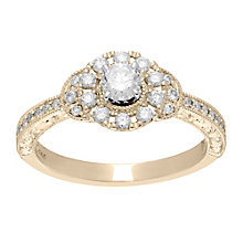 Neil Lane 14ct  gold 0.56ct diamond halo ring - Product number 4045378