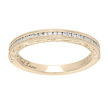 Neil Lane 14ct  gold 0.15ct diamond milgrain band - Product number 4045769