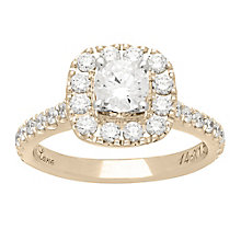 Neil Lane 14ct gold 1.50ct diamond halo ring - Product number 4045890