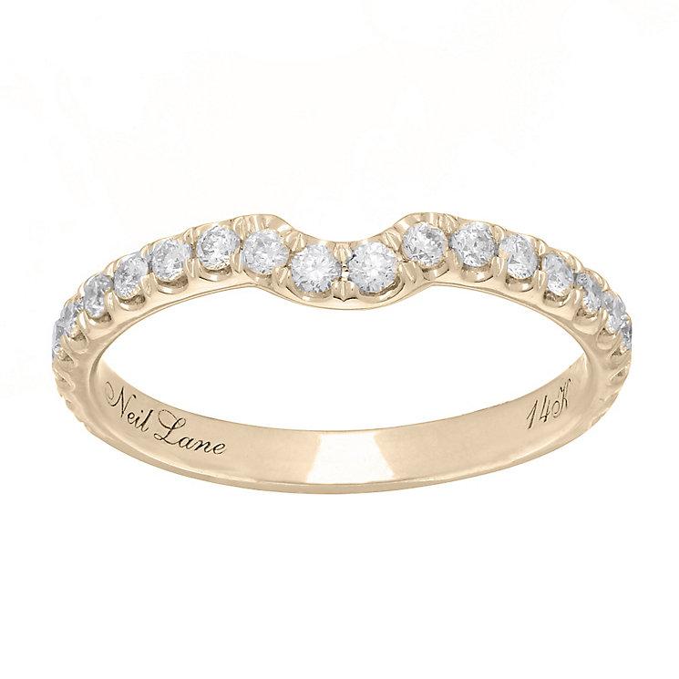 Neil Lane 14ct  gold 0.42ct diamond set shaped ring - Product number 4046021