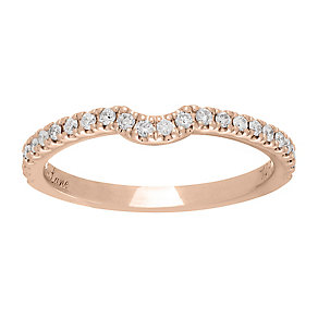 Neil Lane 14ct rose gold 0.25ct diamond shaped ring - Product number 4046579