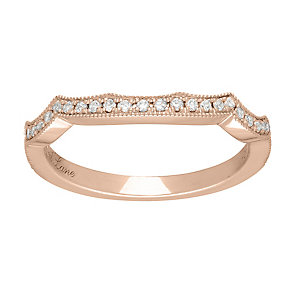 Neil Lane 14ct rose gold 0.18ct diamond shaped ring - Product number 4046846