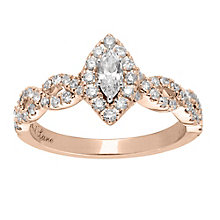 Neil Lane 14ct rose gold 0.87ct diamond marquise ring - Product number 4047109
