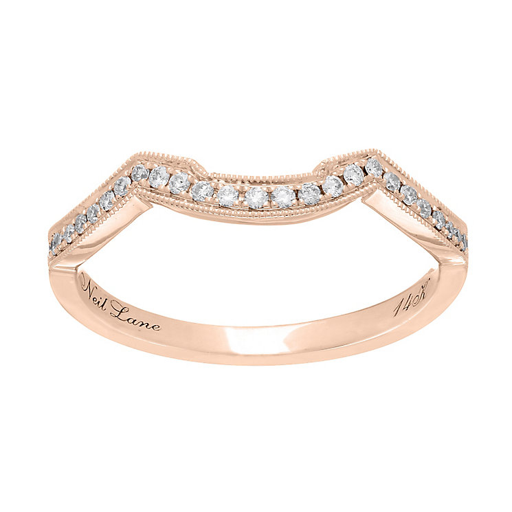 Neil Lane 14ct rose gold 0.12ct diamond shaped band - Product number 4047370