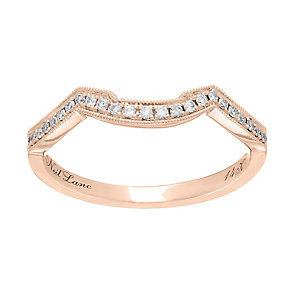 Neil Lane 14ct rose gold 0.12ct diamond shaped ring - Product number 4047370