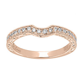 Neil Lane 14ct rose gold 0.33ct diamond shaped ring - Product number 4047621