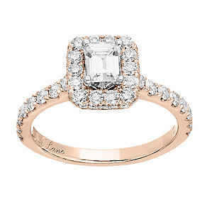 Neil Lane 14ct rose gold 1.39ct diamond halo ring - Product number 4047753