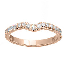 Neil Lane 14ct rose gold 0.33ct diamond band - Product number 4048164