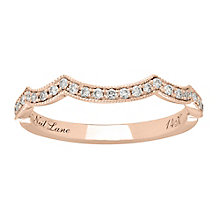 Neil Lane 14ct rose gold 0.19ct shaped diamond band - Product number 4048423