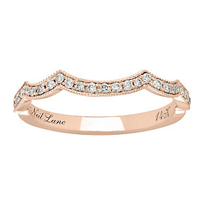 Neil Lane 14ct rose gold 0.19ct shaped diamond ring - Product number 4048423
