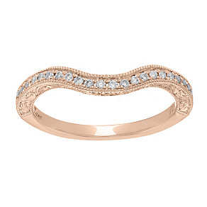 Neil Lane 14ct rose gold 0.18ct diamond shaped ring - Product number 4048822
