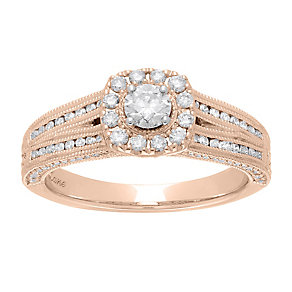 Neil Lane 14ct rose gold 0.70ct diamond ring - Product number 4048962