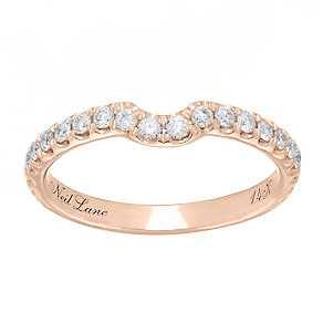 Neil Lane 14ct rose gold 0.42ct diamond set shaped ring - Product number 4049357
