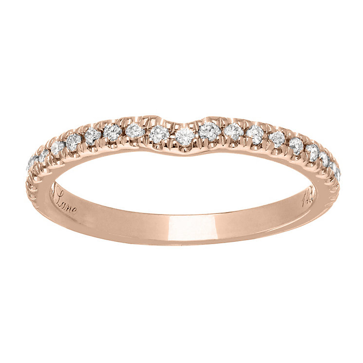 Neil Lane 14ct  rose gold 0.20ct diamond shaped band - Product number 4049497