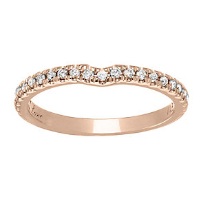 Neil Lane 14ct  rose gold 0.20ct diamond shaped ring - Product number 4049497
