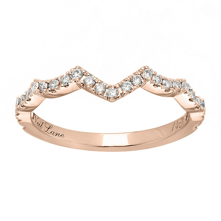 Neil Lane 14ct rose gold 0.24ct diamond shaped band - Product number 4049624