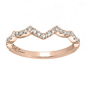 Neil Lane 14ct rose gold 0.24ct diamond shaped ring - Product number 4049624
