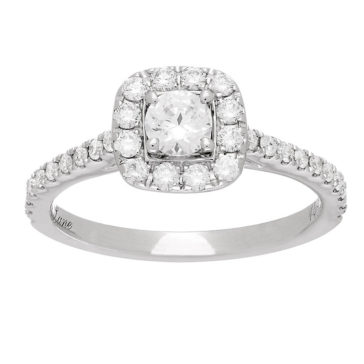 Neil Lane platinum gold 0.75ct diamond halo ring - Product number 4049756