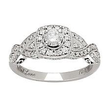 Neil Lane platinum 0.69ct diamond halo twist ring - Product number 4050142