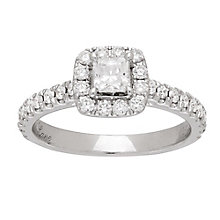 Neil Lane platinum 0.81ct diamond halo ring - Product number 4050401