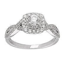 Neil Lane platinum 0.75ct diamond double halo ring - Product number 4050665