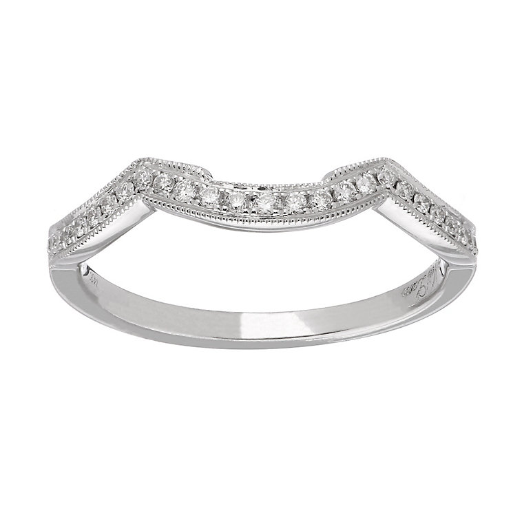 Neil Lane platinum 0.12ct diamond shaped ring - Product number 4050800