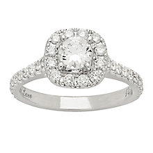 Neil Lane 14ct platinum 1.16ct diamond cluster ring - Product number 4051459