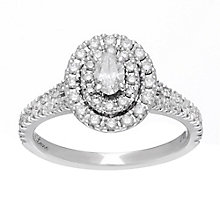 Neil Lane platinum0.80ct oval diamond halo ring - Product number 4051998