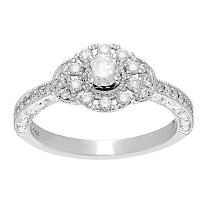 Neil Lane platinum 0.56ct diamond halo ring - Product number 4052129