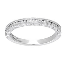 Neil Lane platinum 0.15ct diamond milgrain band - Product number 4052676