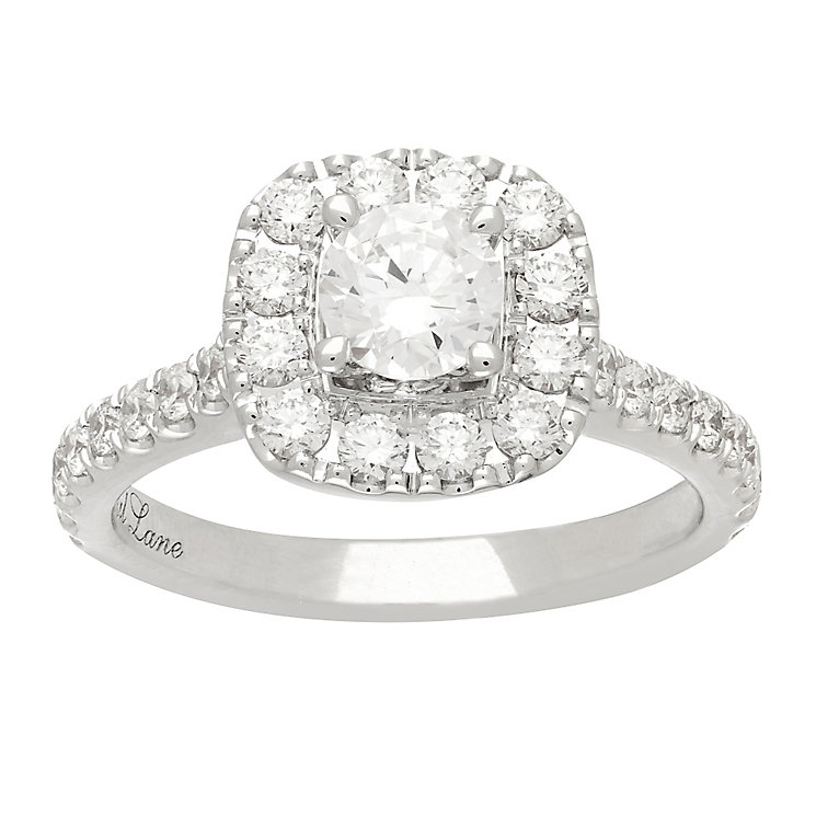 Neil Lane platinum 1.50ct diamond halo ring - Product number 4052803