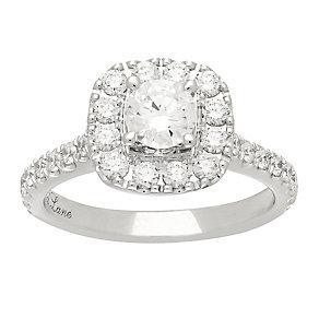 Neil Lane platinum 1.50ct diamond halo ring - Product number 4052803