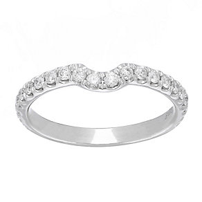 Neil Lane platinum 0.42ct diamond set shaped ring - Product number 4052935