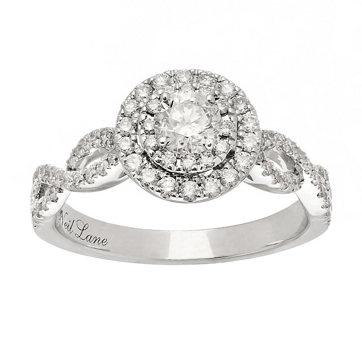 Neil Lane platinum 0.75ct diamond double halo ring - Product number 4053168