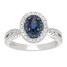 Neil Lane platinum 0.35ct sapphire and diamond ring - Product number 4054016