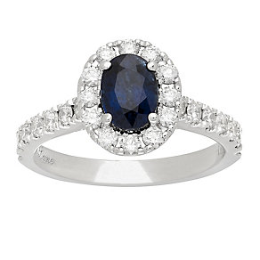Neil Lane platinum 0.83ct sapphire and diamond ring - Product number 4054148
