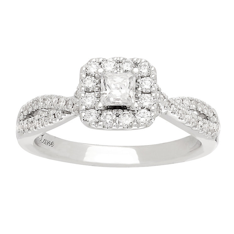 Neil Lane platinum 0.68ct princess cut diamond ring - Product number 4054873