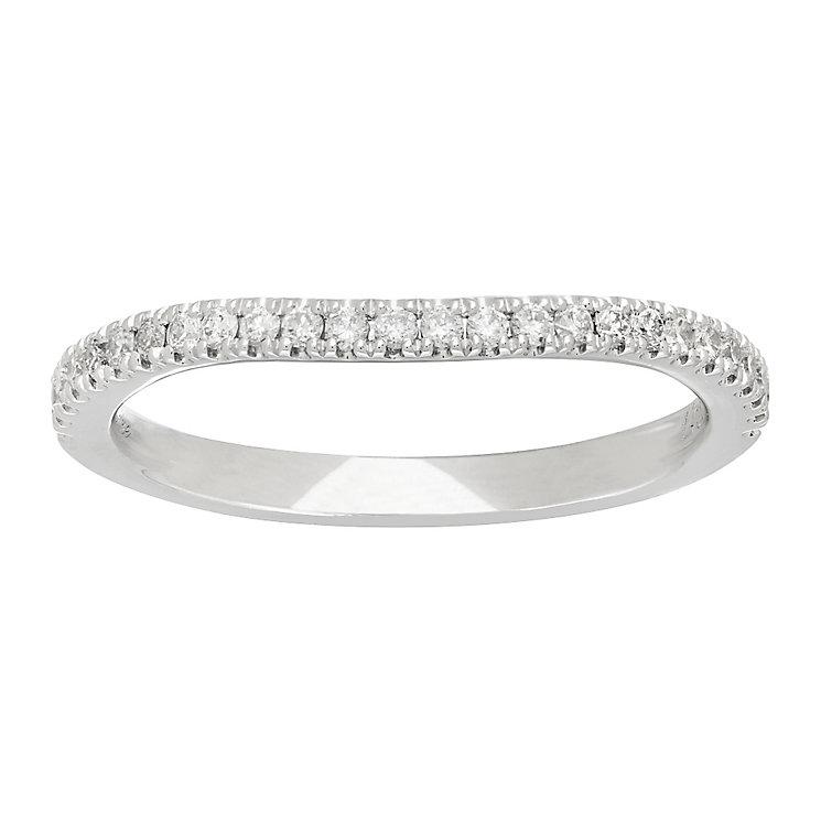Neil Lane platinum 20pt diamond shaped band - Product number 4055152